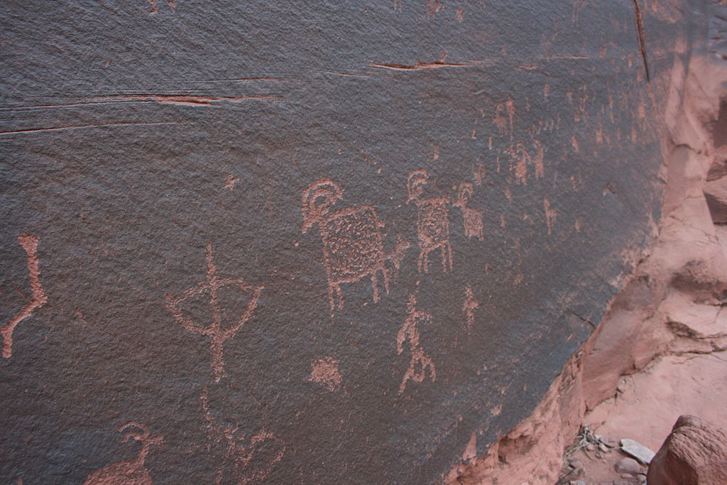 Rock art found during a Paria Canyon hike