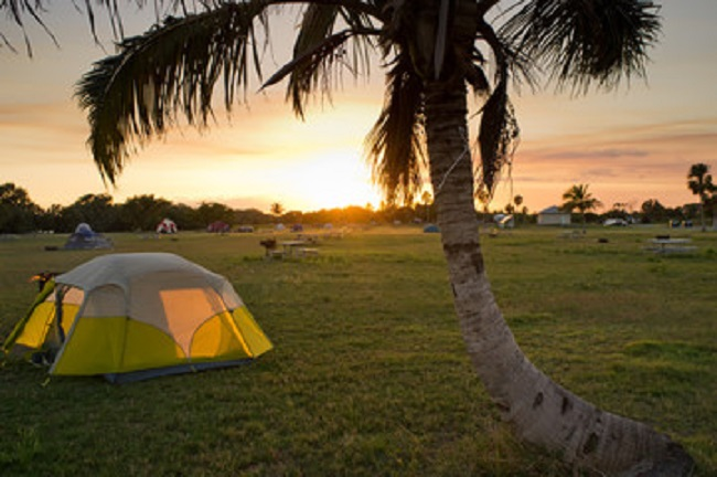 campsite at sunset, Everglades National Park