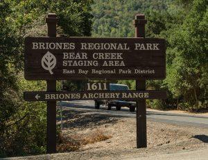 briones regional park - entrance gate
