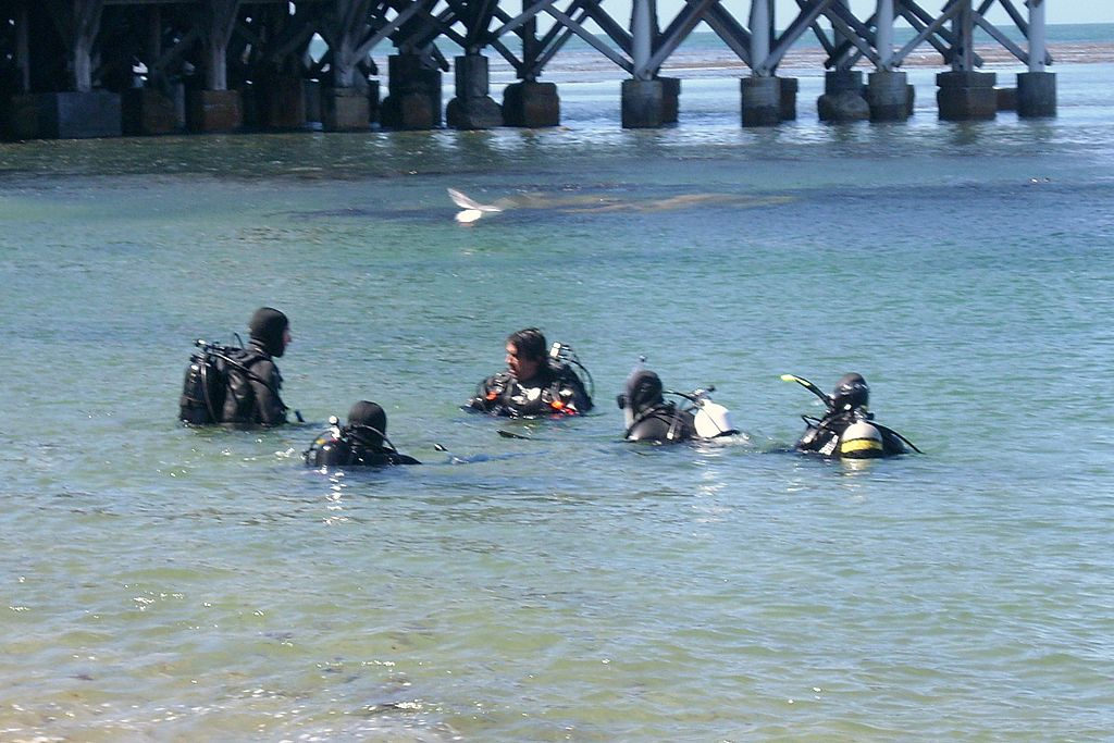 Scuba diving lessons at Monterey, California