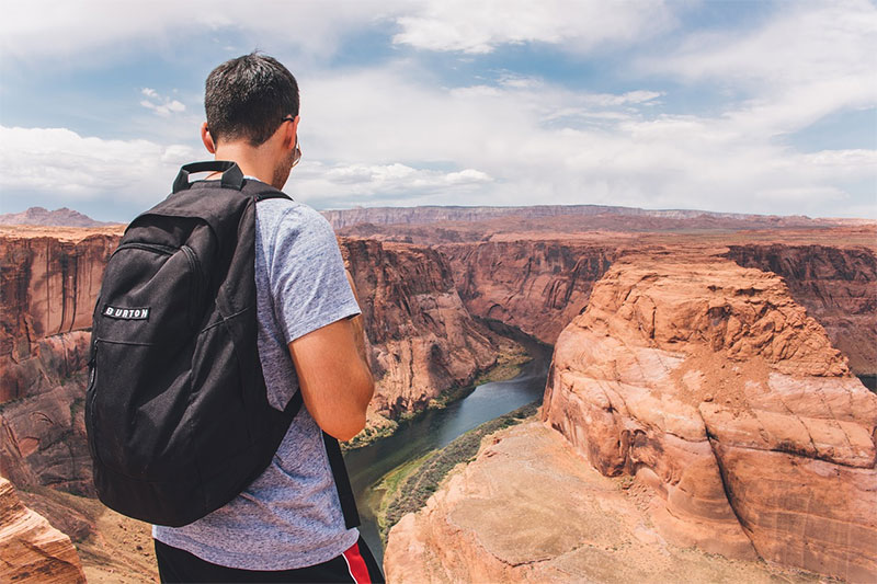 Horseshoe bend at the Grand Canyon