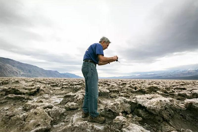 man in Death Valley