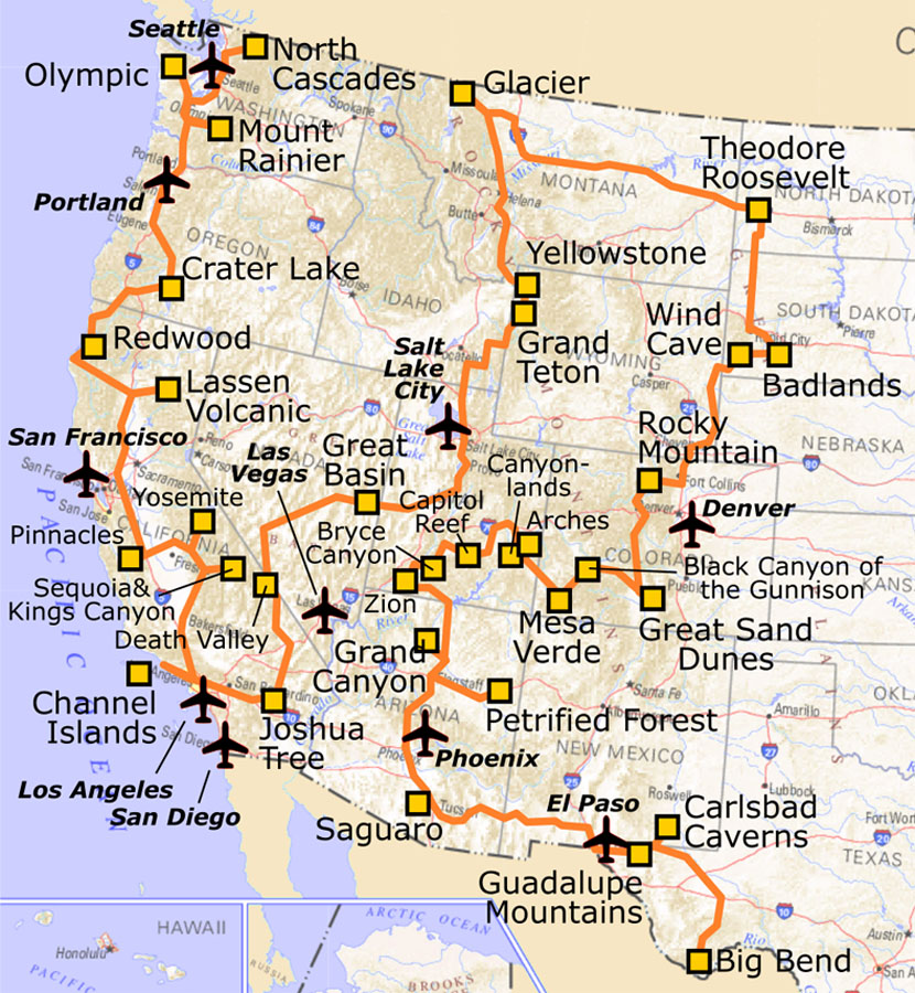 national park routes