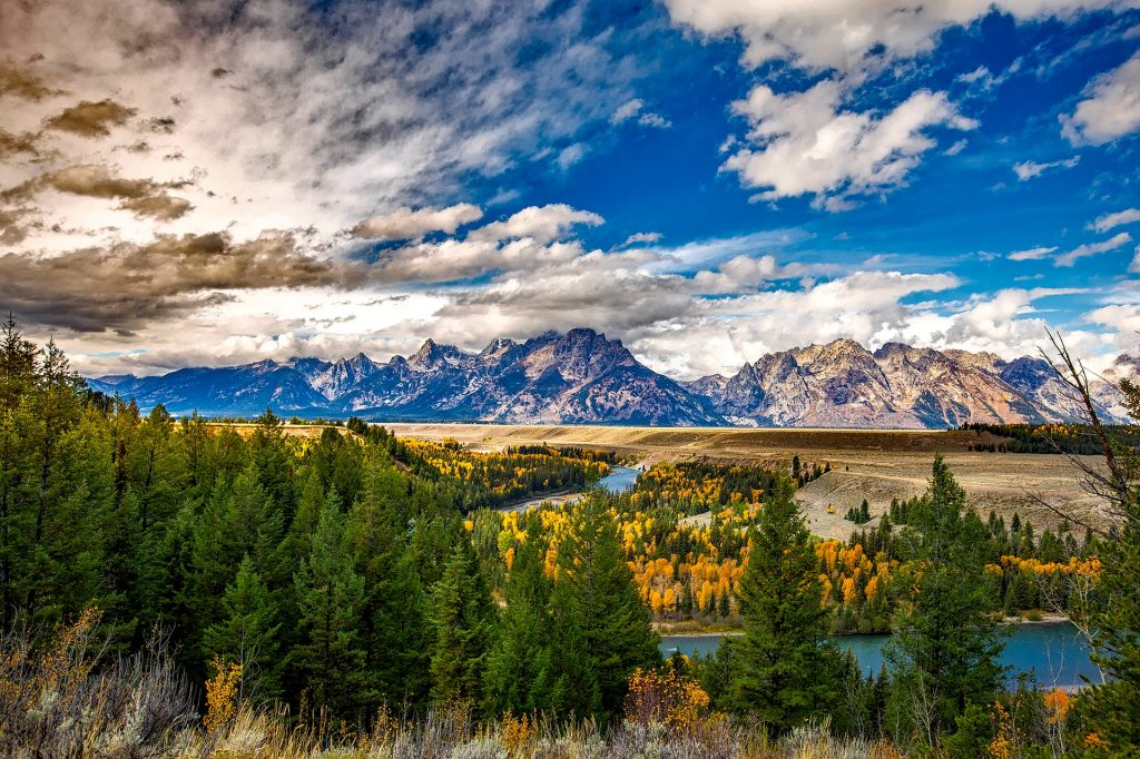 One of the views you will see if you buy national park travel packages and visit Grand Teton